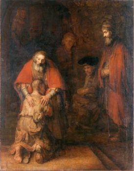 """Картина Рембрандта «Возращение блудного сына»"""""""