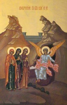 Святые жены-мироносицы у гроба Господня