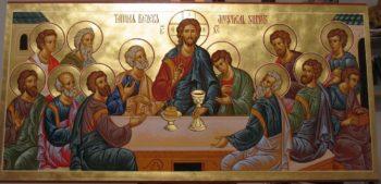 Тайная вечеря. Христос и ученики