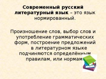 Русский литературный язык