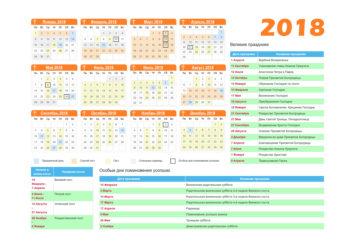 Православный Церковный Календарь на 2018 год
