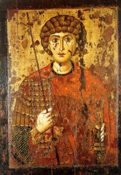 Великомученик Георгий. Икона 2-й пол. XI в. Успенский собор Московского Кремля