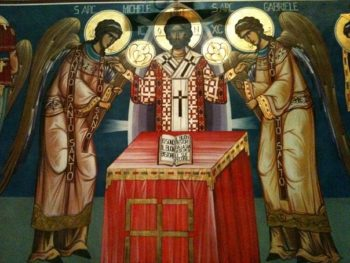 священник является образом Христа и через него Христос благословляет
