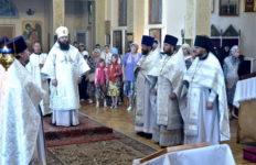 Архиерейское Богослужение в день празднования собора Архангела Гавриила, 26 июля 2018 г.