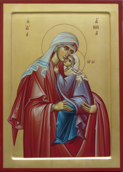Святая праведная Анна с Приснодевой Марией на руках