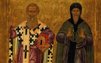 Преподобные Антоний Великий и Афанасий Великий